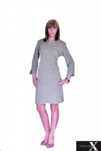 Sukienka dresowa pikowana